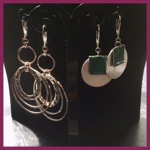 3/$5 Silvertone Earrings, 2pr